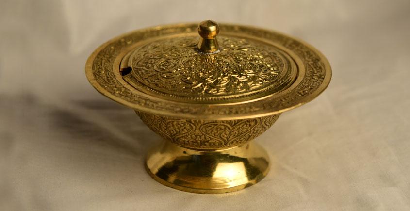 मनोहार ✥ Brass . Kesar katori carving ✥ 26