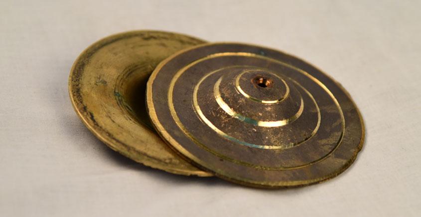 मनोहार ✥ Brass . Manjira medium ✥ 45