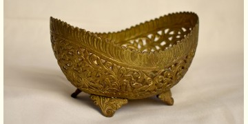 अर्चना ❋ Brass . Hand Carved Flower Bowl ❋ 53