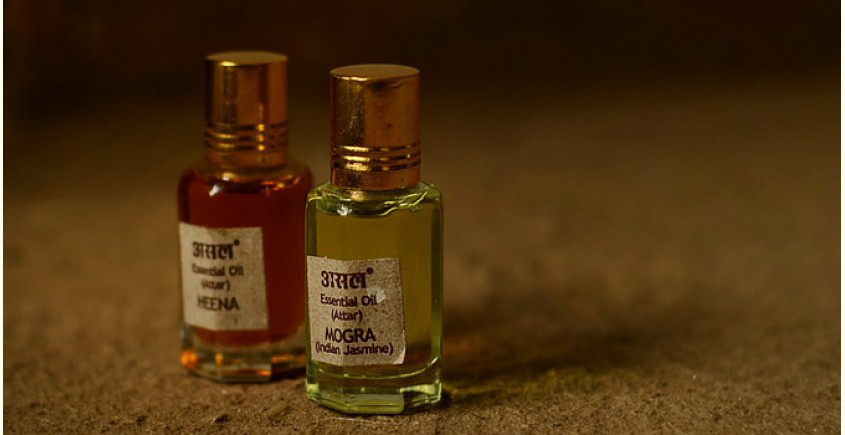 Attar (Natural Perfume) ~ Heena + Mogra