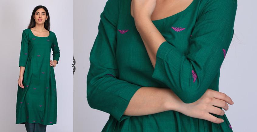 Viha ❂ Handwoven . Cotton Dress ❂ A