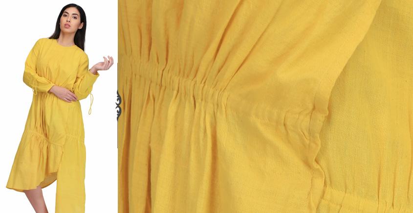 Yagavi ❂ Handwoven . Cotton Dress ❂ N