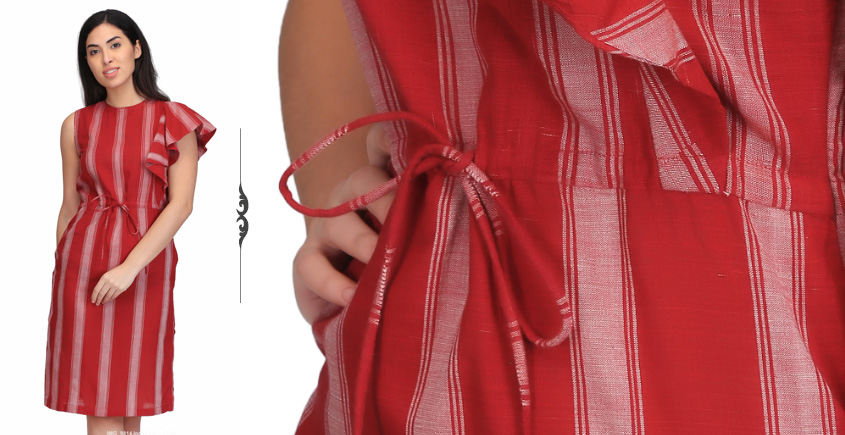 Yaalisai ❂ Handwoven . Cotton Dress ❂ R