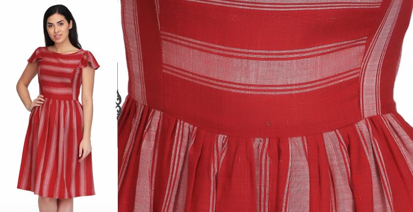 Rihon ❂ Handwoven . Cotton Dress ❂ S