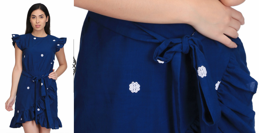 Rutushar ❂ Handwoven . Cotton Dress ❂ W