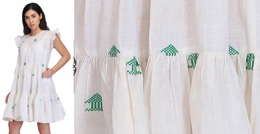 Ujjal ❂ Handwoven . Cotton Dress ❂ Z