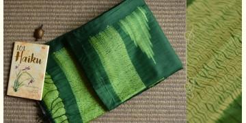 Haiku ✼ Handwoven Tussar-Spun Silk Shibori Saree { F }