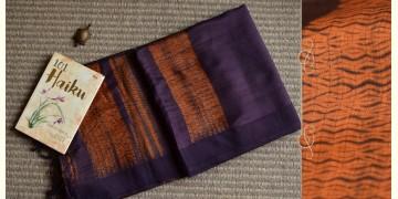 Haiku ✼ Handwoven Tussar-Spun Silk Shibori Saree { G }