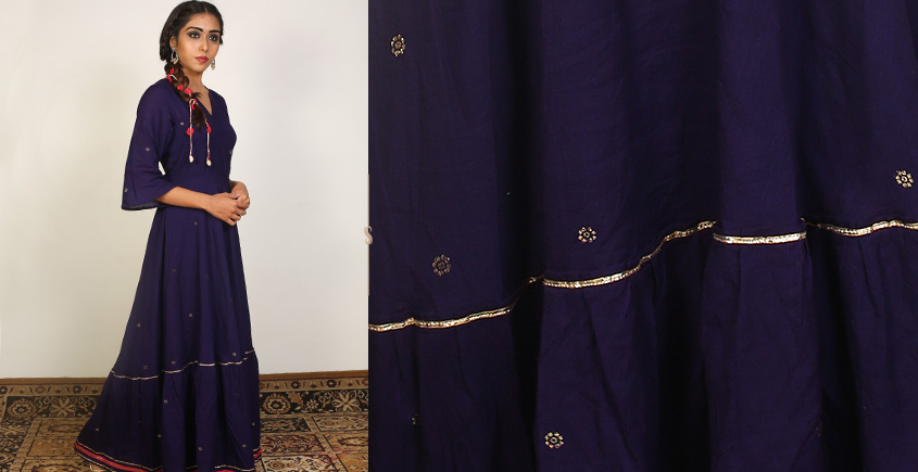 Nivriti ❊ Blue Panel Long Dress ❊ 1