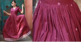 Nivriti ❊ Maroon gathered long dress ❊ 3