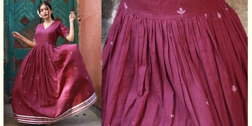 Nivriti ❊ Maroon gathered long dress ❊ 3