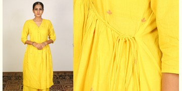 Nivriti ❊ Yellow angrakha kurta and palazzo set ❊ 7