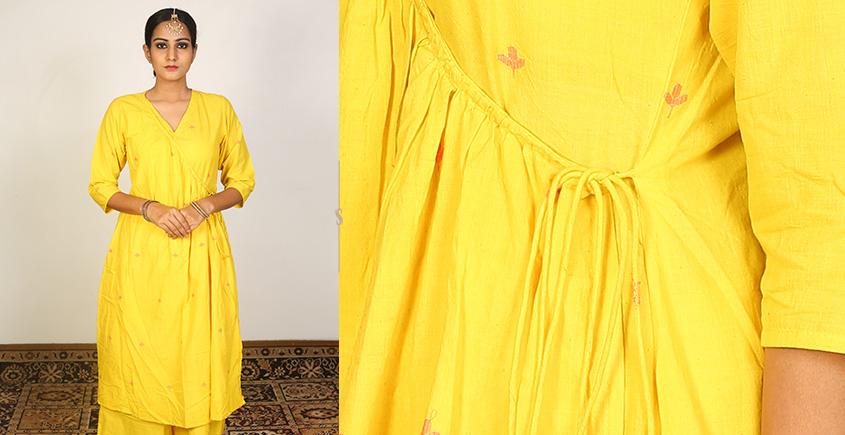 Nivriti ❊ Yellow angrakha kurta and palazzo set ❊ 7
