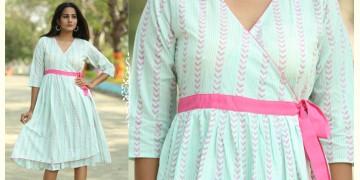 Albeli ♠ Hand block printed ♠ Geometrical pistachio angarkha dress ♠ 8