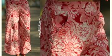 Albeli ♠ Hand block printed ♠ Floral pink palazzo ♠ 4