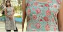 Albeli ♠ Hand block printed ♠ Floral print ocean green sleeveless kurti ♠ 29