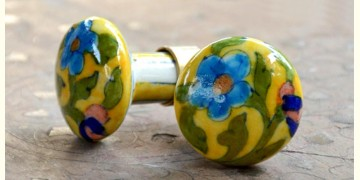 Azur ᴥ Blue Pottery Knob (set of 2) ᴥ 42