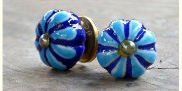 Azur ᴥ Blue Pottery Knob (set of 2) ᴥ 43