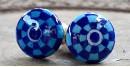 Azur ᴥ Blue Pottery Knob (set of 2) ᴥ 44