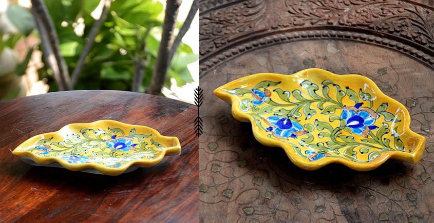 Azur ᴥ Blue Pottery Serving Tray ᴥ 46