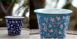 Azur ᴥ Blue Pottery Planter ᴥ 54