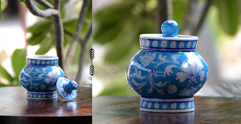 Azur ᴥ Blue Pottery Sugar Pot ᴥ 56