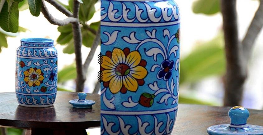 Azur ᴥ Blue Pottery Masala Jar ᴥ 58