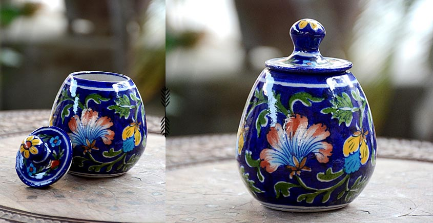 Azur ᴥ Blue Pottery Sugar Pot ᴥ 61