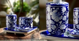 Azur ᴥ Blue Pottery Bathroom Set ᴥ 7