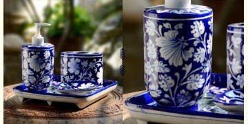 Azur ᴥ Blue Pottery Bathroom Set ᴥ 7