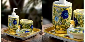 Azur ᴥ Blue Pottery Bathroom Set ᴥ 8