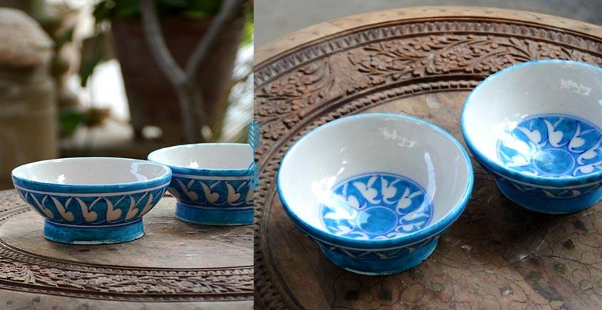 Azur ᴥ Blue Pottery Bowl (set of two) ᴥ 22