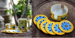 Azur ᴥ Blue Pottery Coaster Set ᴥ 25