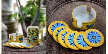 Azur ᴥ Blue Pottery Coaster Set ᴥ 25