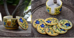 Azur ᴥ Blue Pottery Coaster Set ᴥ 26