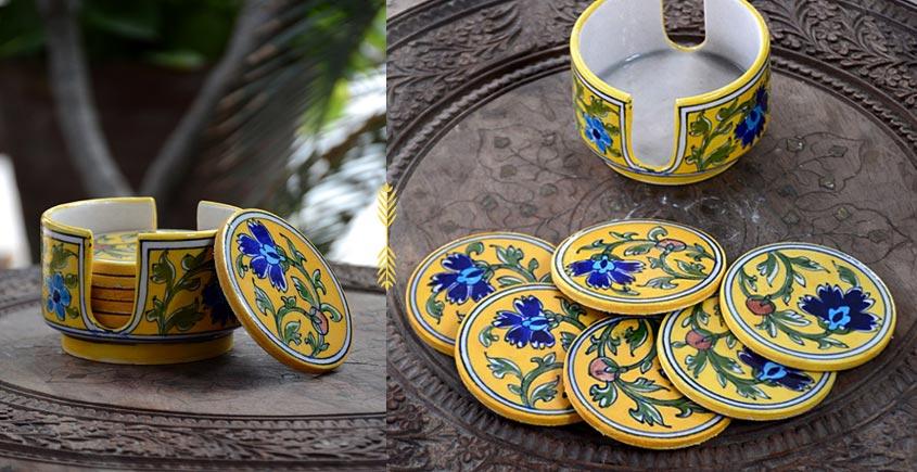 Azur ᴥ Blue Pottery Coaster Set ᴥ 26