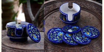 Azur ᴥ Blue Pottery Coaster Set ᴥ 27