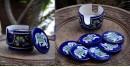 Azur ᴥ Blue Pottery Coaster Set ᴥ 28
