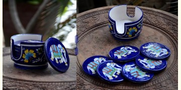 Azur ᴥ Blue Pottery Coaster Set ᴥ 28