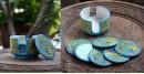 Azur ᴥ Blue Pottery Coaster Set ᴥ 29