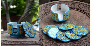 Azur ᴥ Blue Pottery Coaster Set ᴥ 29