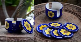 Azur ᴥ Blue Pottery Coaster Set ᴥ 30