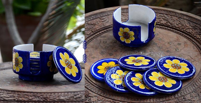 Azur ᴥ Blue Pottery Coaster Set ᴥ 30