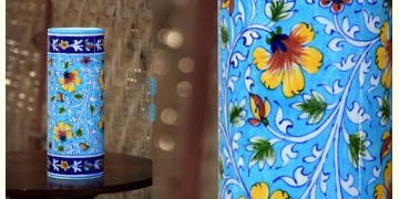 Azur ᴥ Blue Pottery Cylinder Vase ᴥ 33