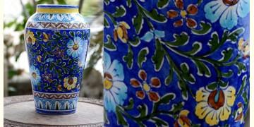 Azur ᴥ Blue Pottery Blue Floral Big Vase ᴥ D