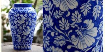 Azur ᴥ Blue Pottery Blue Floral Royal Vase ᴥ E