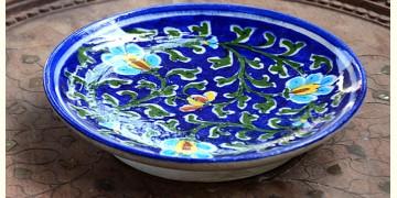 Azur ᴥ Blue Pottery Blue Floral Plate ᴥ G