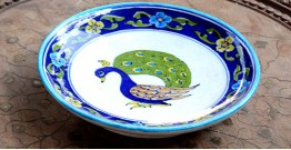 Azur ᴥ Blue Pottery Peacock Plate ᴥ H