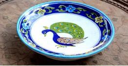 Azur ᴥ Blue Pottery Peacock Plate ᴥ H