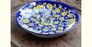 Azur ᴥ Blue Pottery Golden Floral Palte ᴥ J